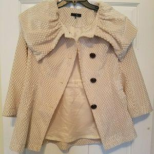 Cream lined lightweight Coat